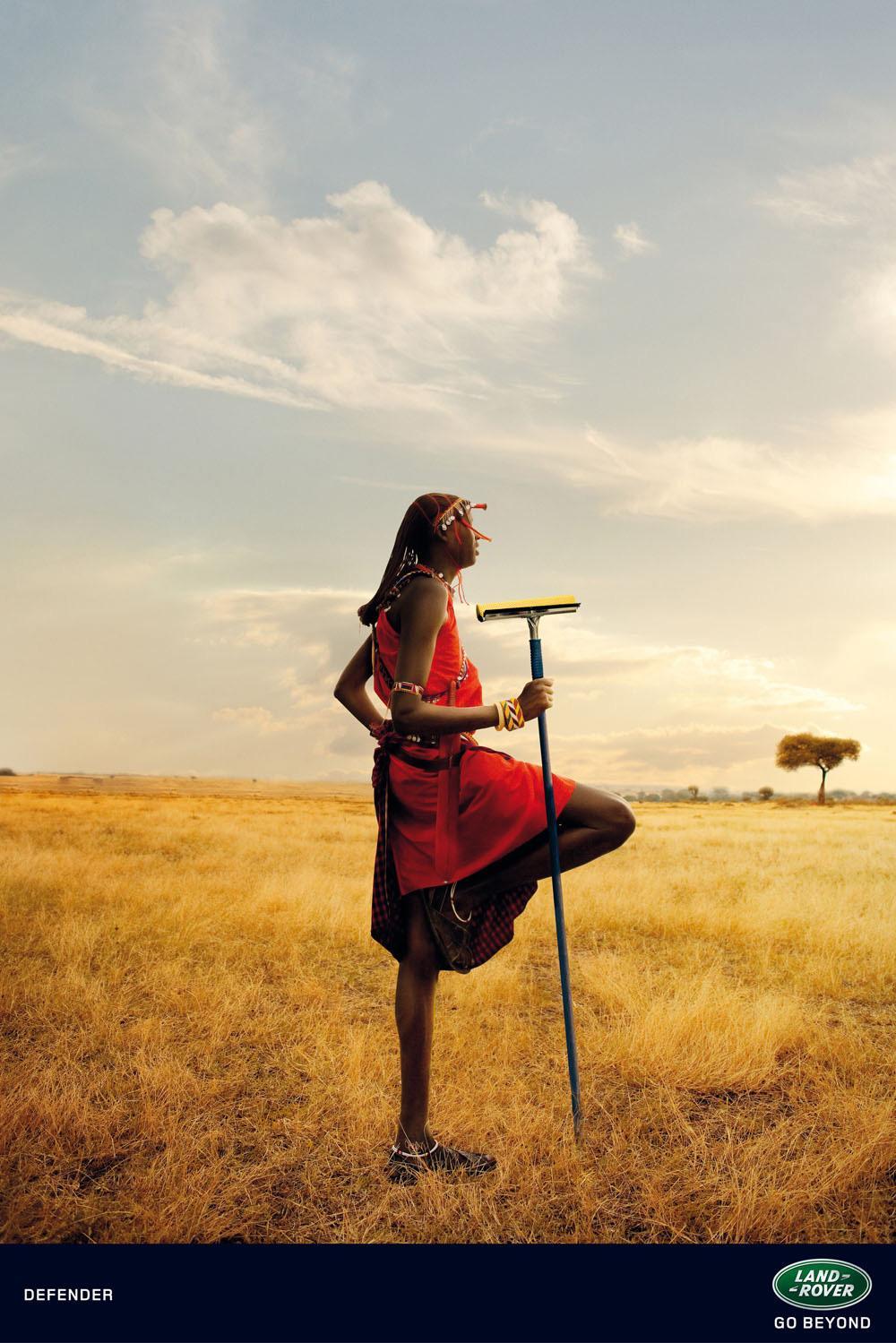 Land Rover Print Ad -  Landscapes, Masai