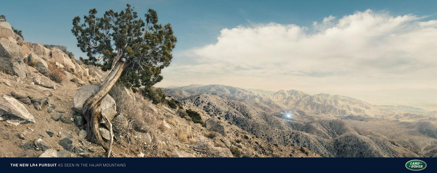 Land Rover Print Ad -  Hajar Mountains