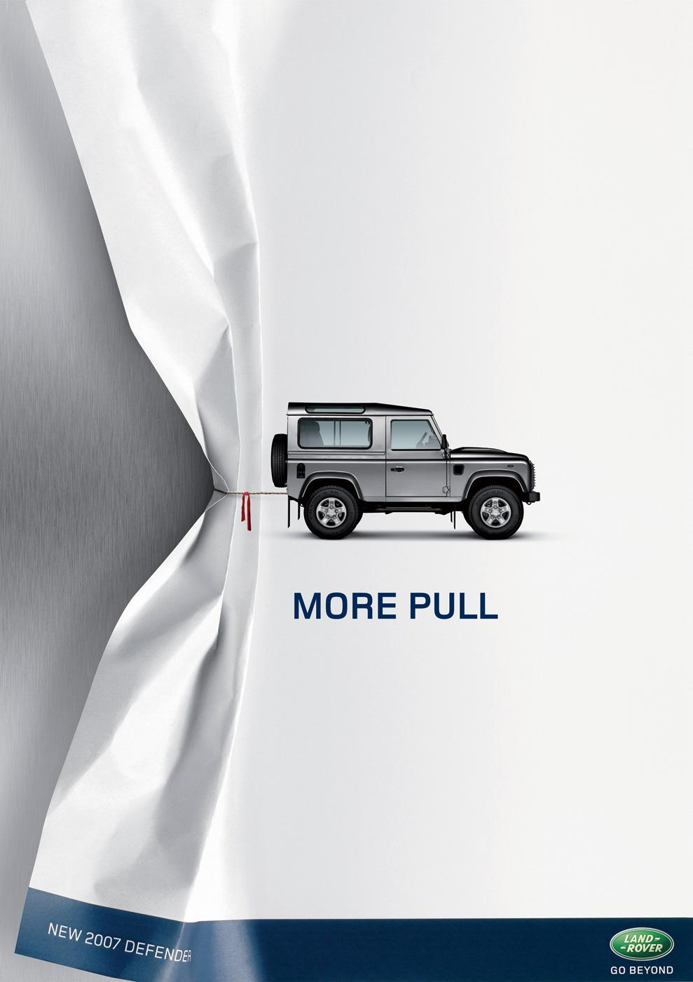 Land Rover Print Ad -  More pull
