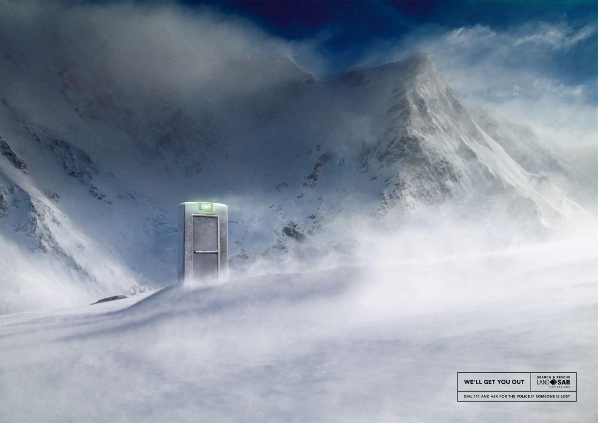 New Zealand Land Search & Rescue Print Ad -  We'll get you out, 3