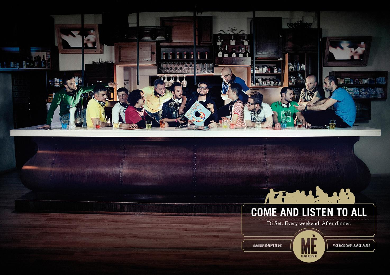 MÈ Bar Print Ad -  Last Supper