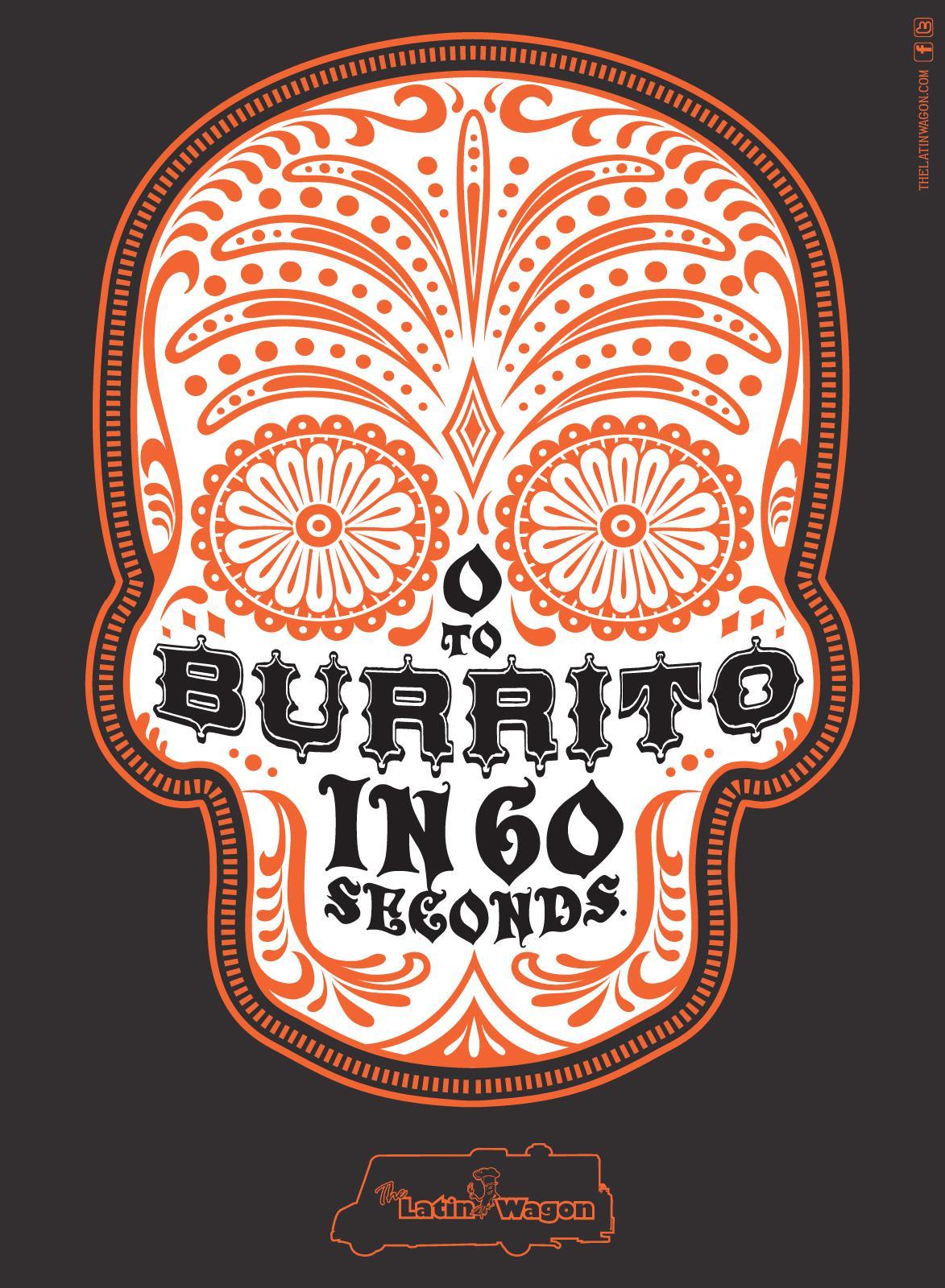 Latin Wagon Print Ad -  Burrito