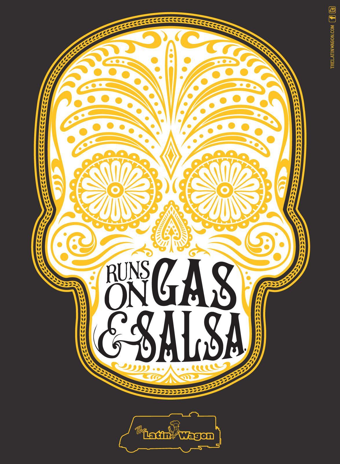 Latin Wagon Print Ad -  Gas & Salsa