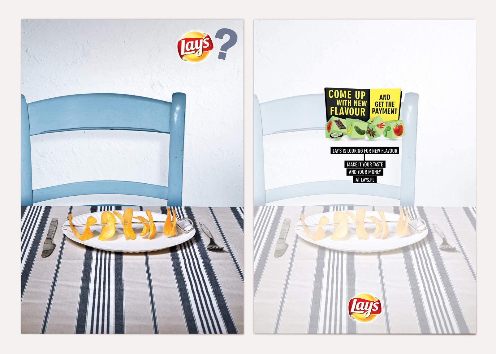 Lay's Print Ad -  Cards, Shish Kebab