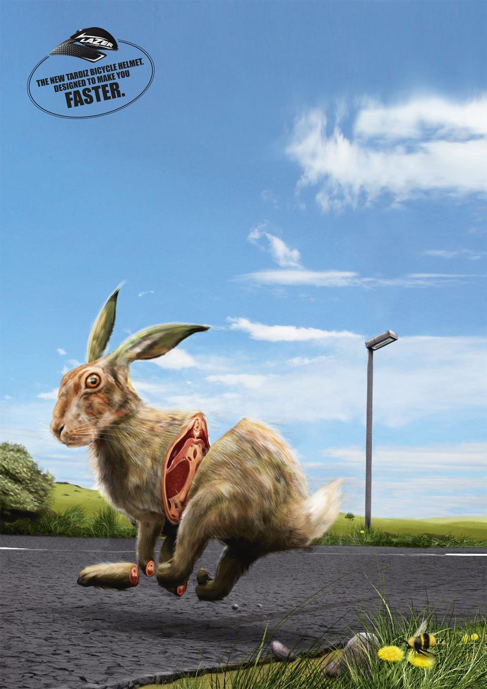 Lazer Print Ad -  Rabbit