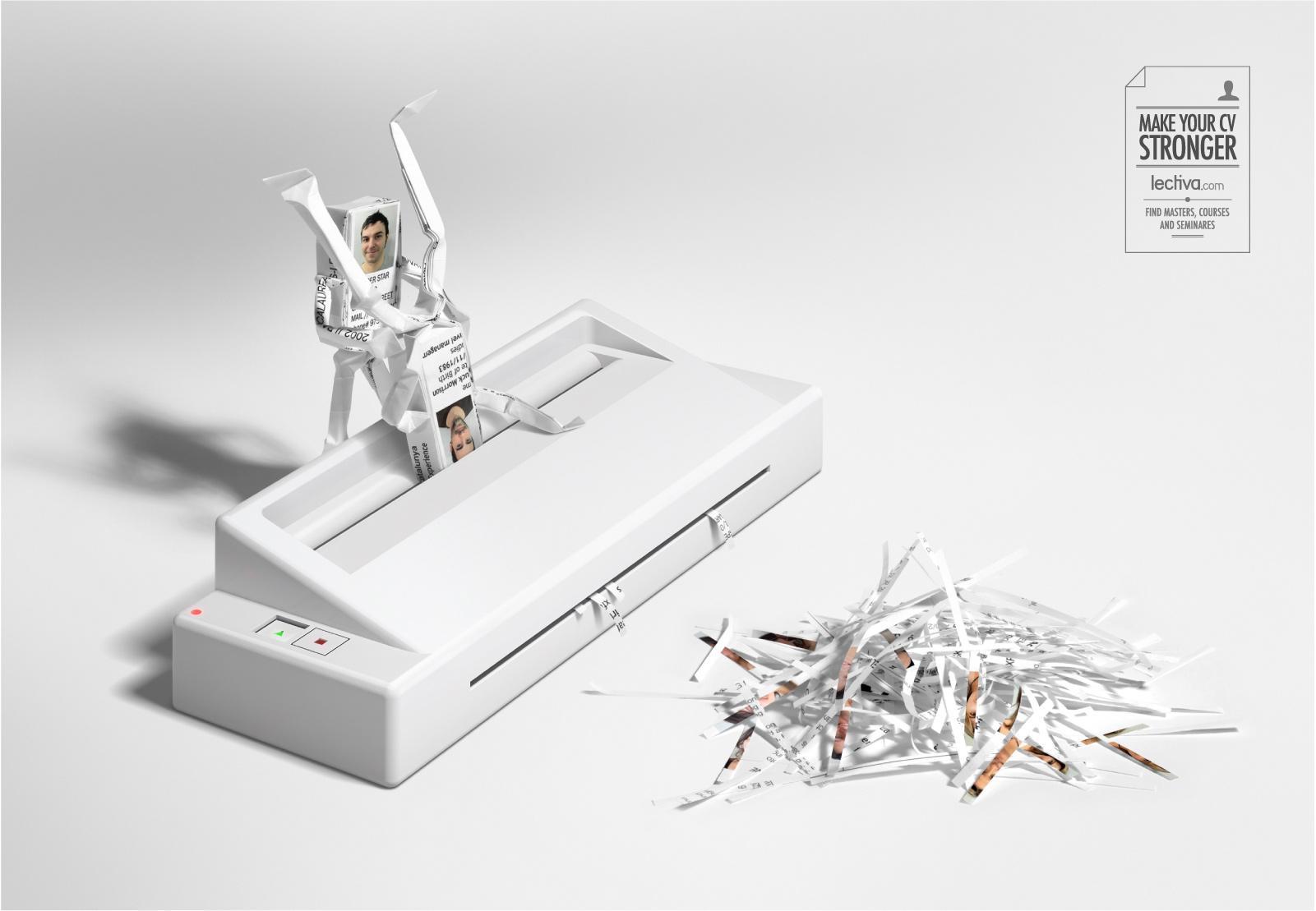 Lectiva.com Print Ad -  Paper Shredder