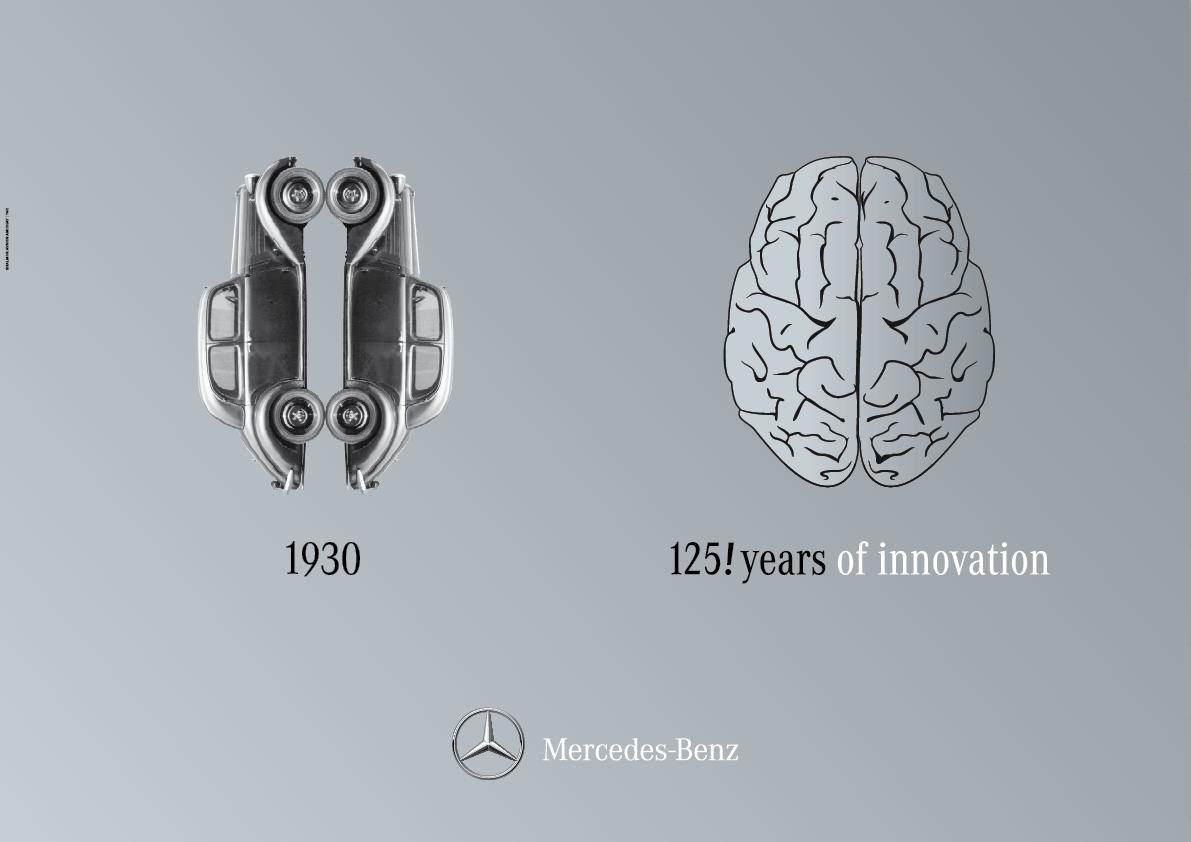 Mercedes Outdoor Ad -  Right Brain / Left Brain, 2