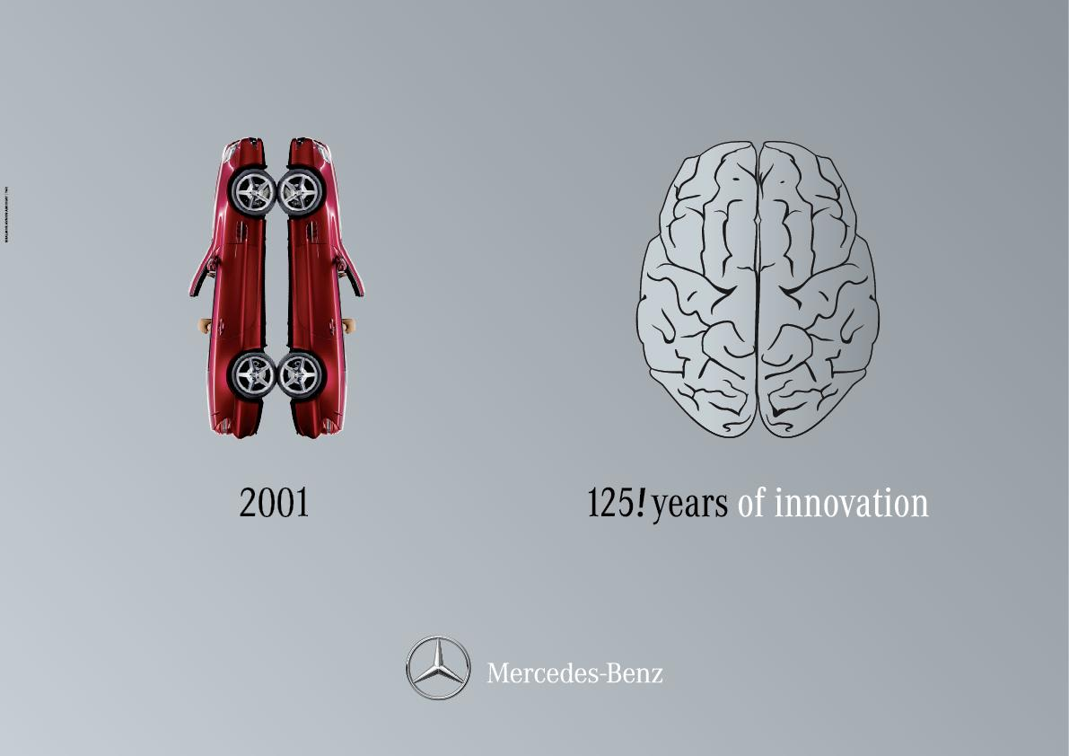 Mercedes Outdoor Ad -  Right Brain / Left Brain, 3