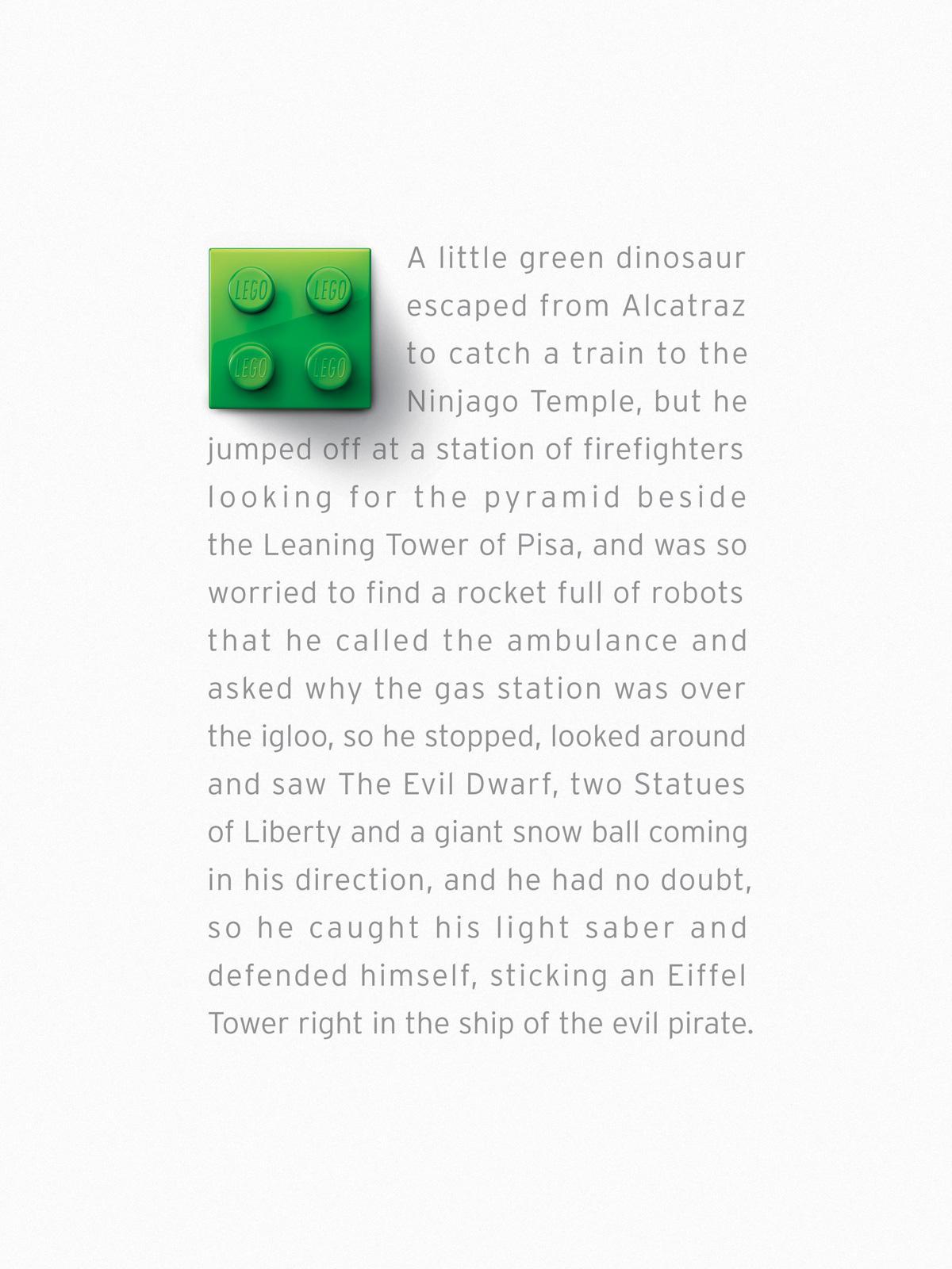 Lego Print Ad -  Green Brick