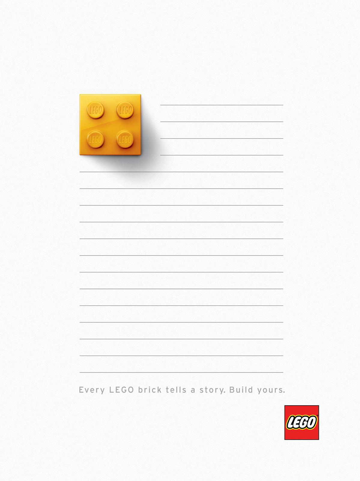 Lego Print Ad -  Yellow Brick