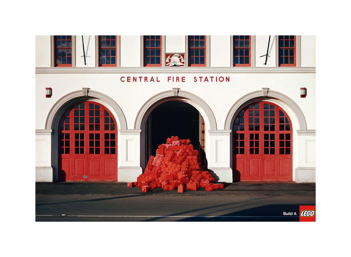 Lego Print Ad -  Fire-station