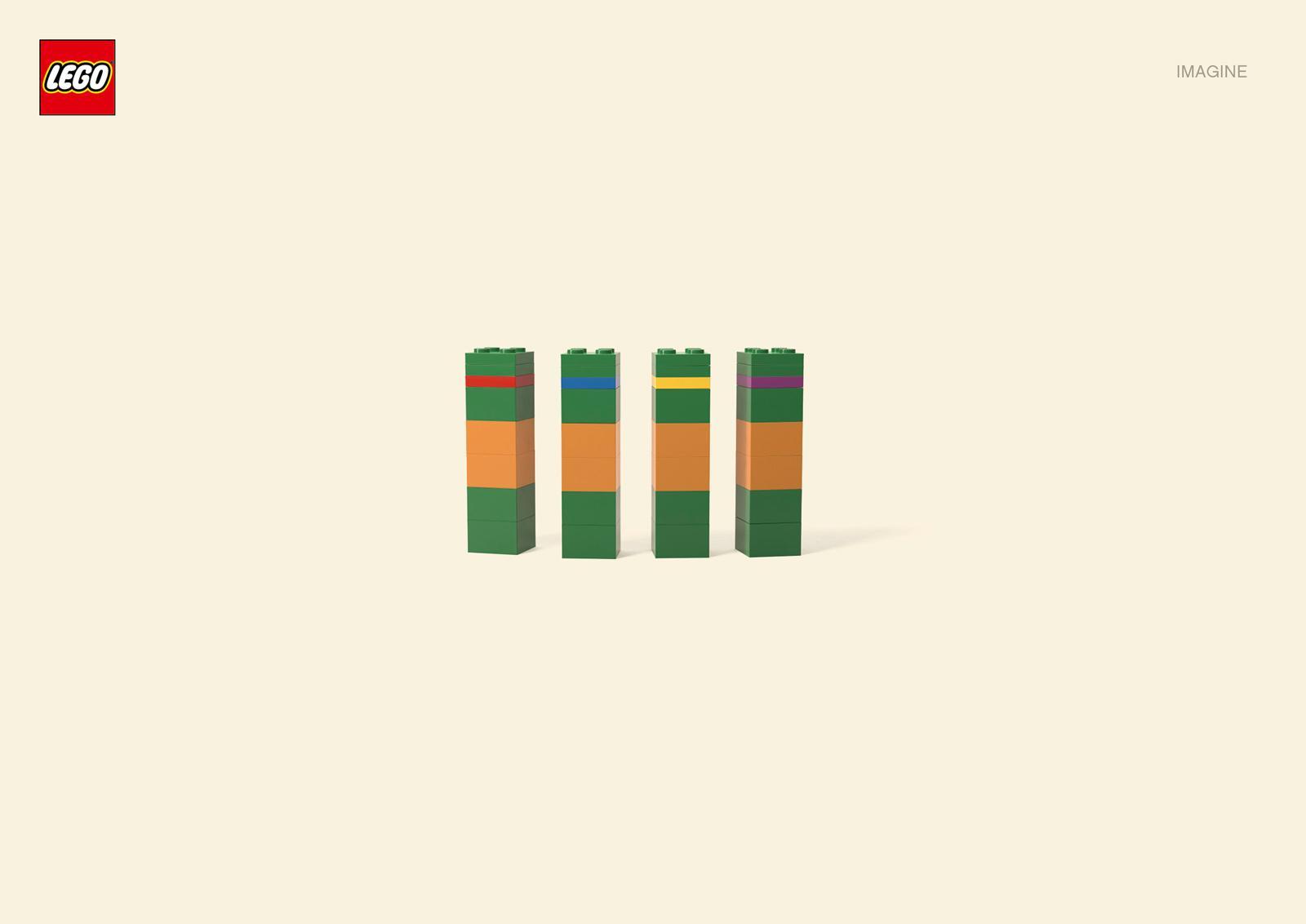 Lego Print Ad -  Ninja Turtles