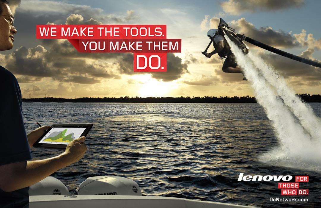 Lenovo Print Ad -  For those who do, 1