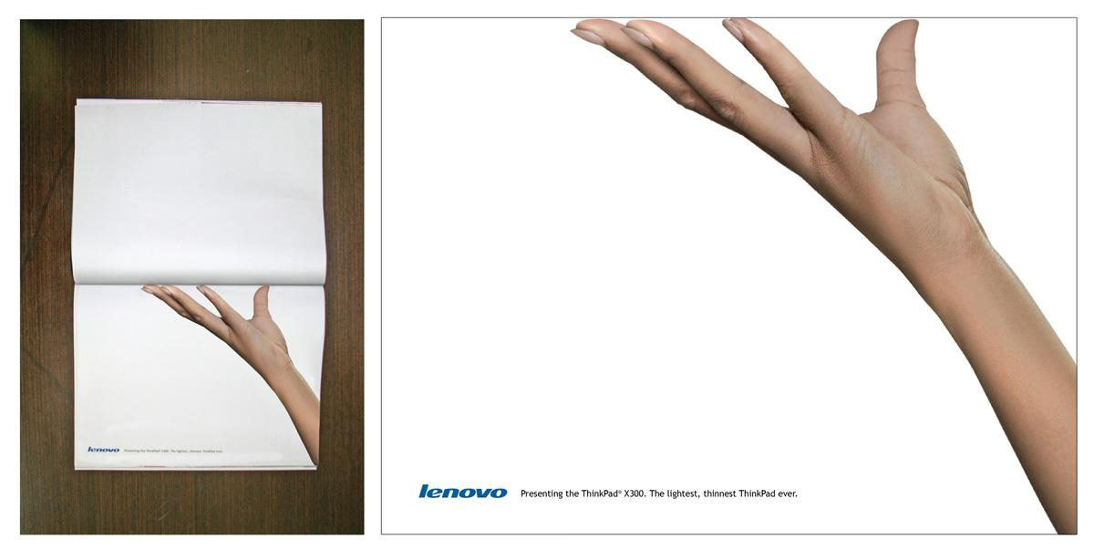 Lenovo Print Ad -  Hand