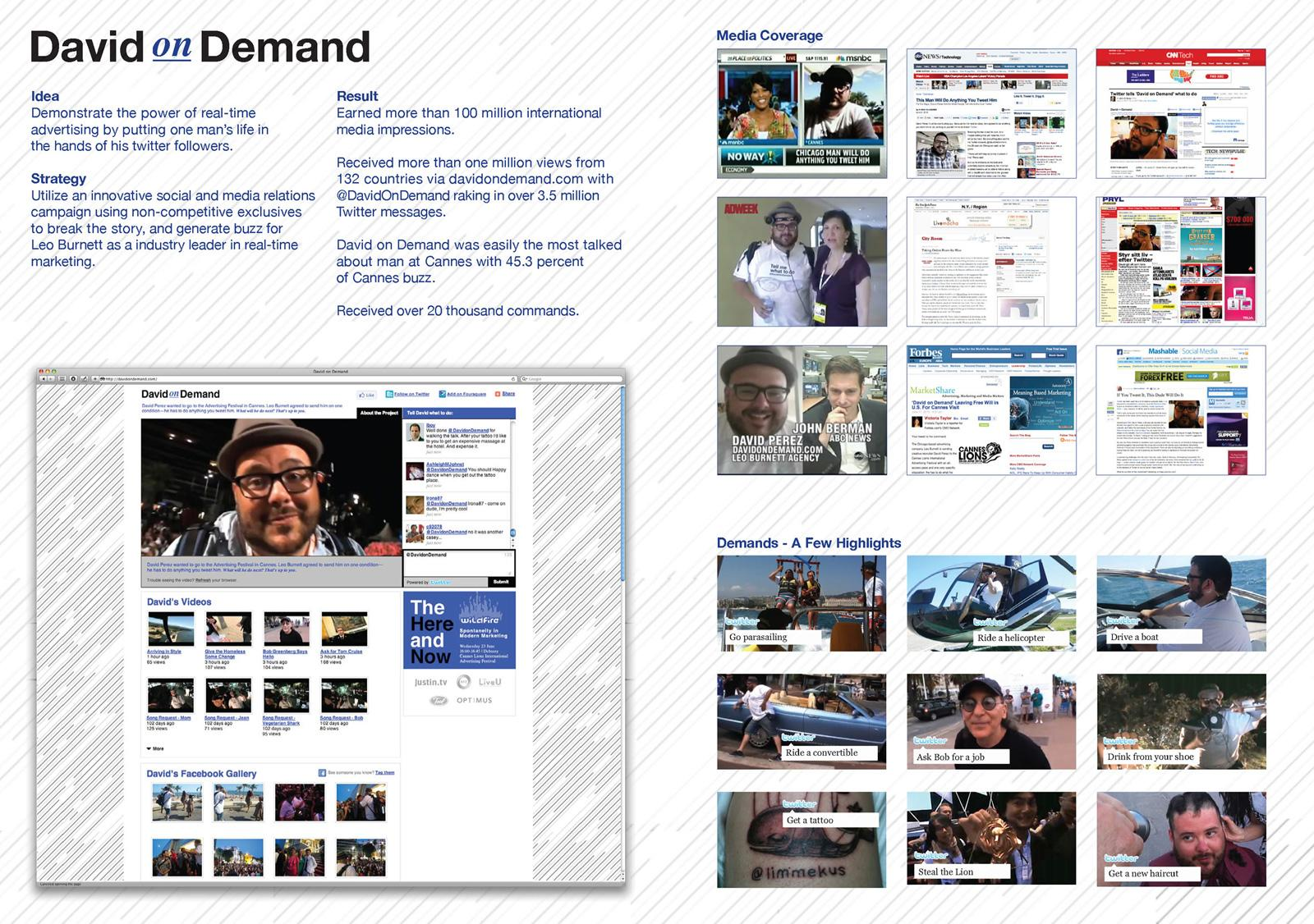 Leo Burnett Digital Ad -  David On Demand