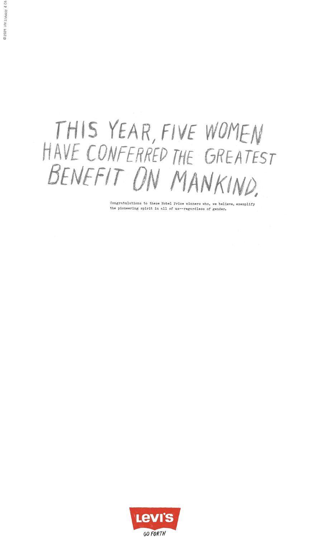 Levi's Print Ad -  Nobel Women