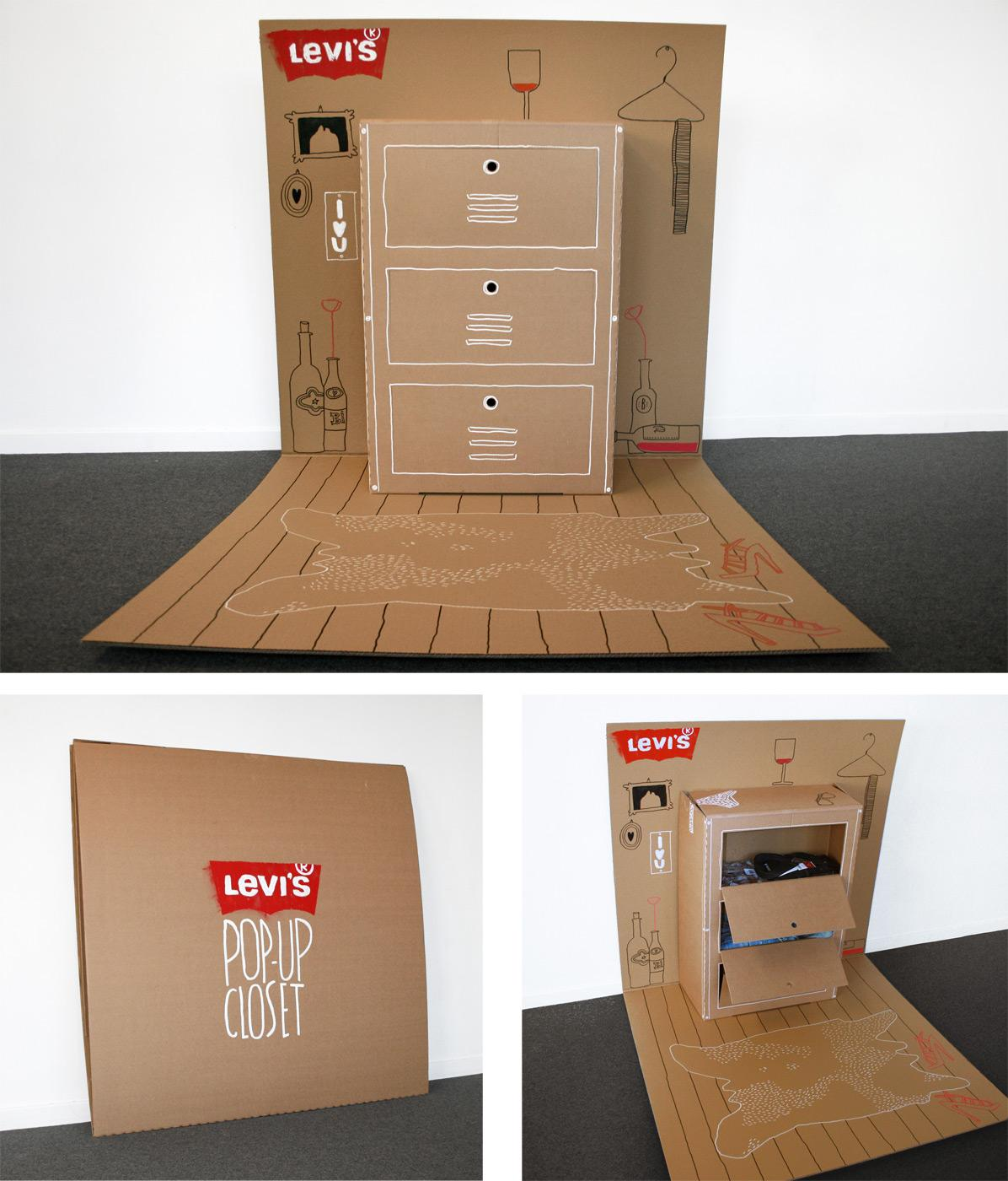 Levi's Direct Ad -  Pop-up closet