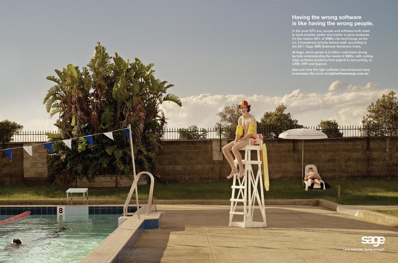 Sage Print Ad -  Lifeguard