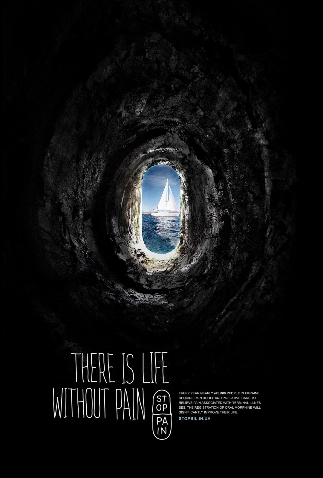 Stop Pain Print Ad -  Tunnel, 1