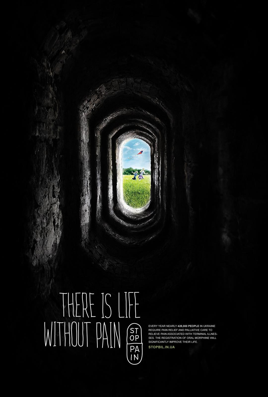 Stop Pain Print Ad -  Tunnel, 2