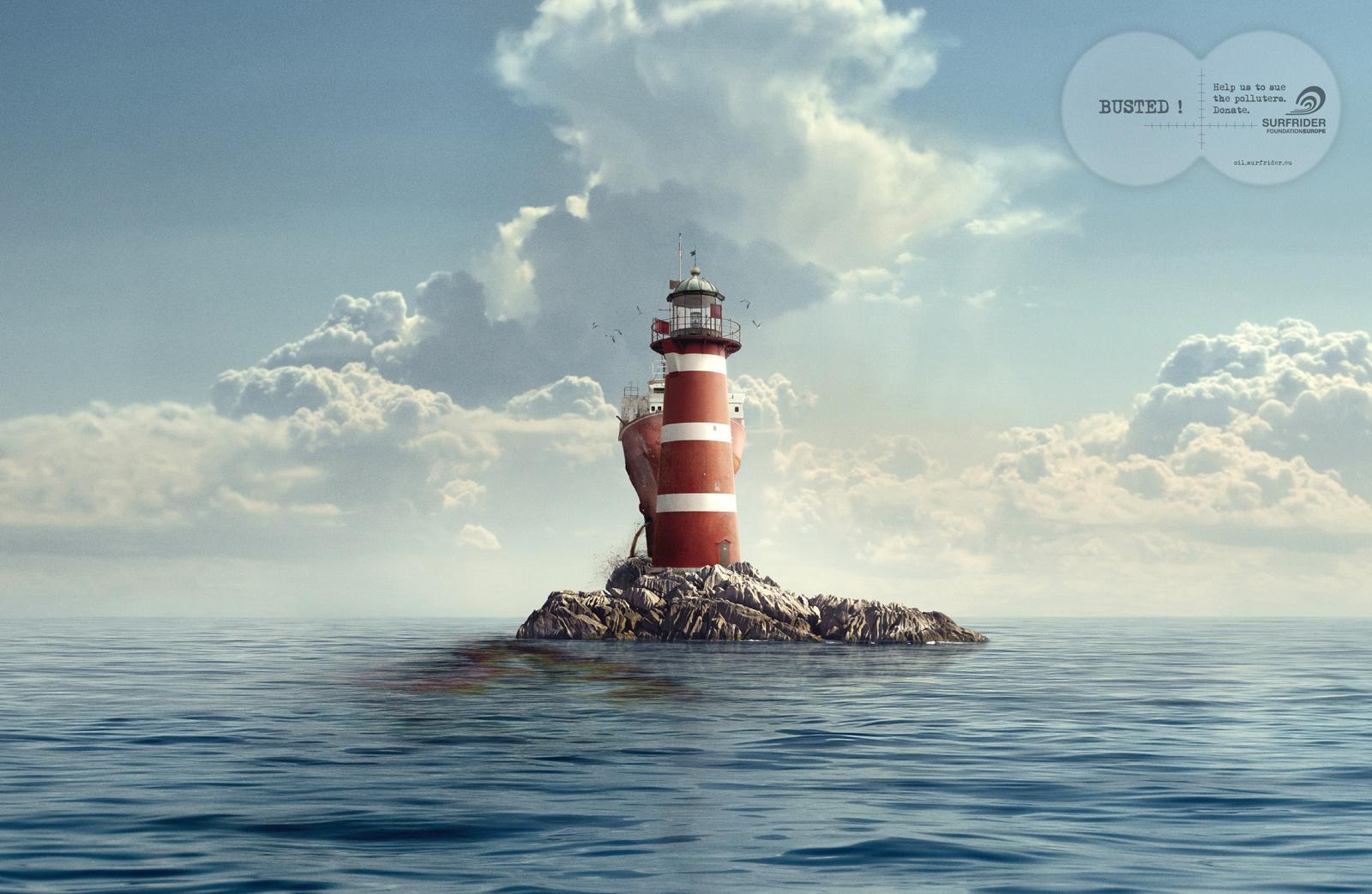 Surfrider Foundation Print Ad -  Lighthouse