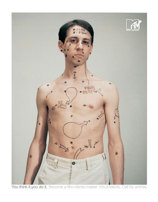 MTV Print Ad -  Likeman
