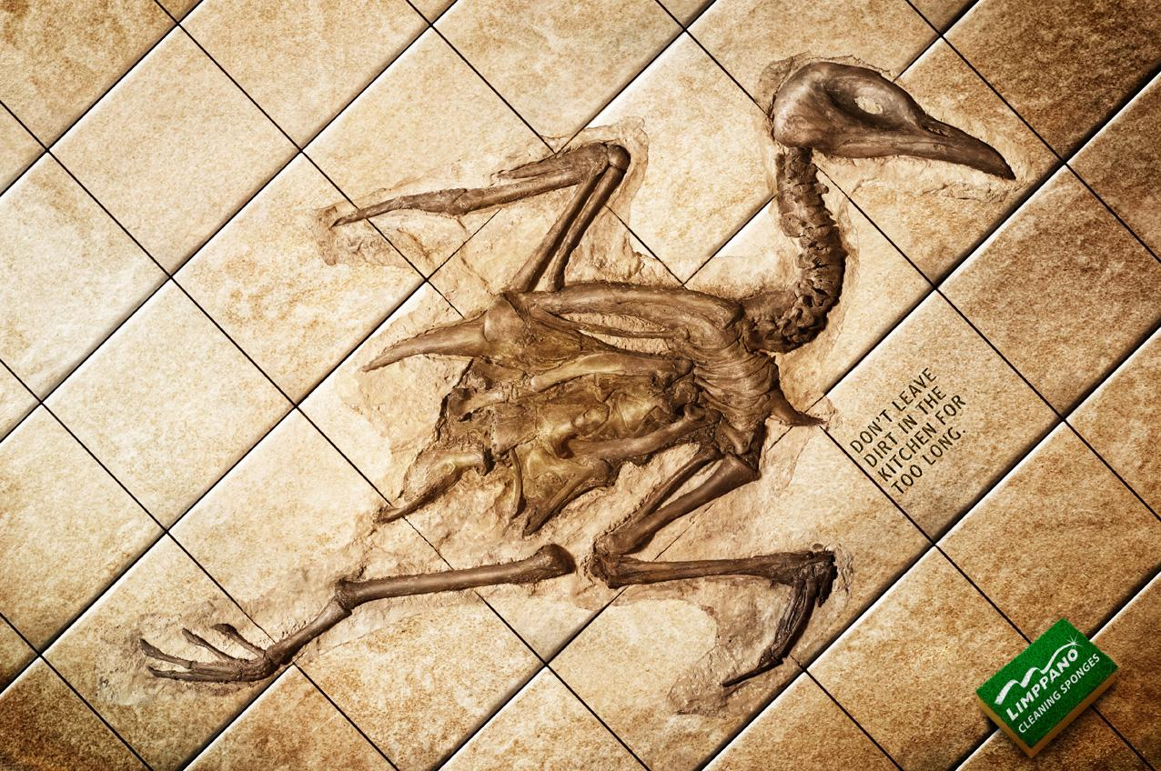 Limppano Print Ad -  Chicken fossil
