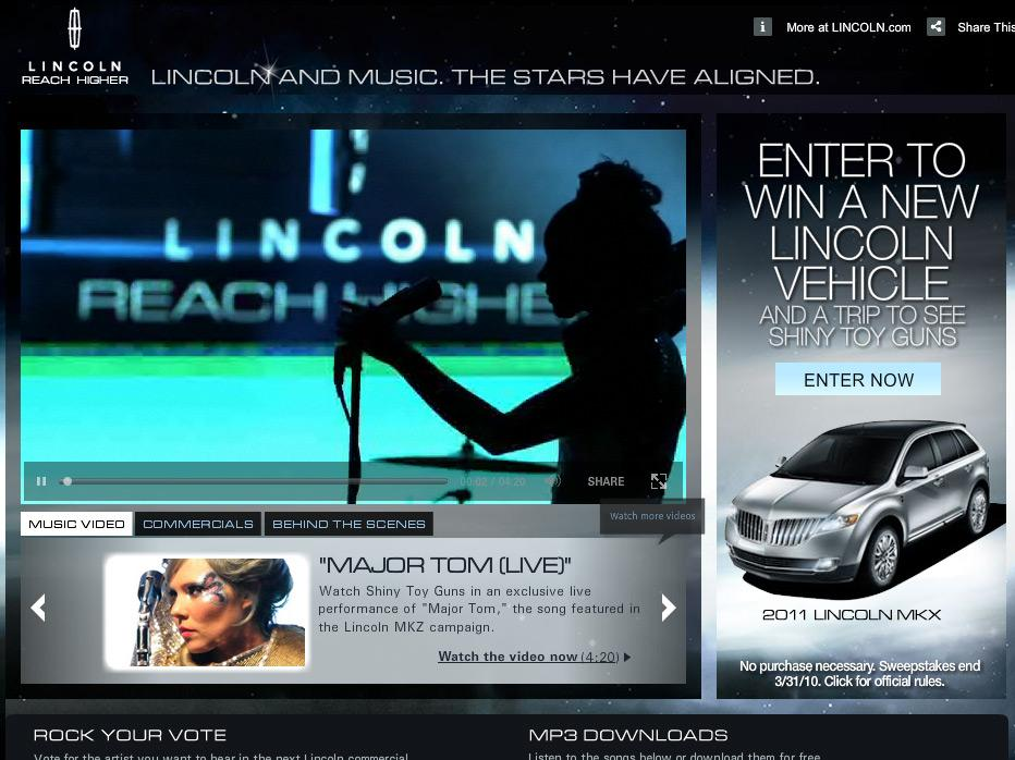 Lincoln Digital Ad -  Shiny Toy Guns Campaign