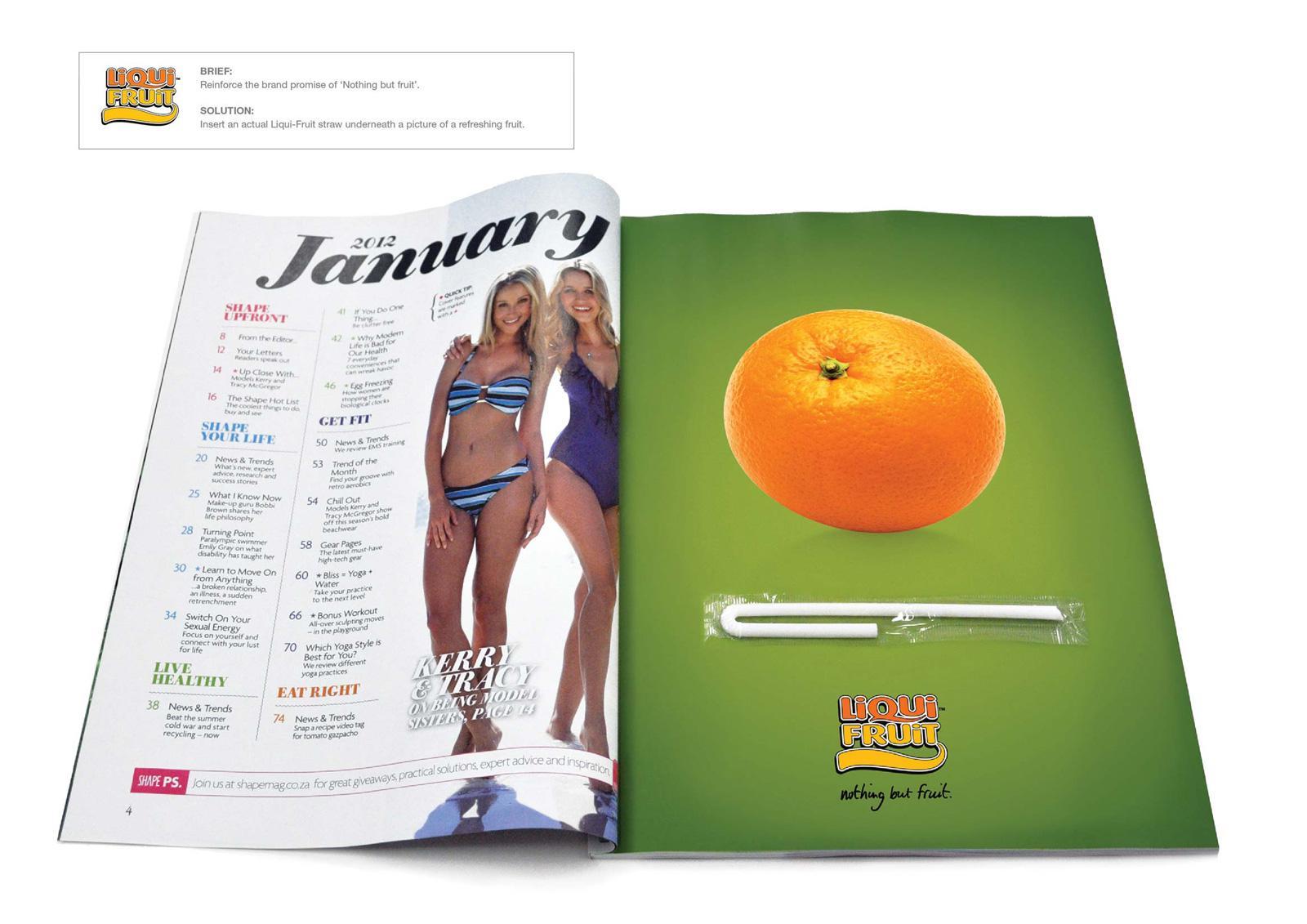 Liqui-Fruit Print Ad -  Orange