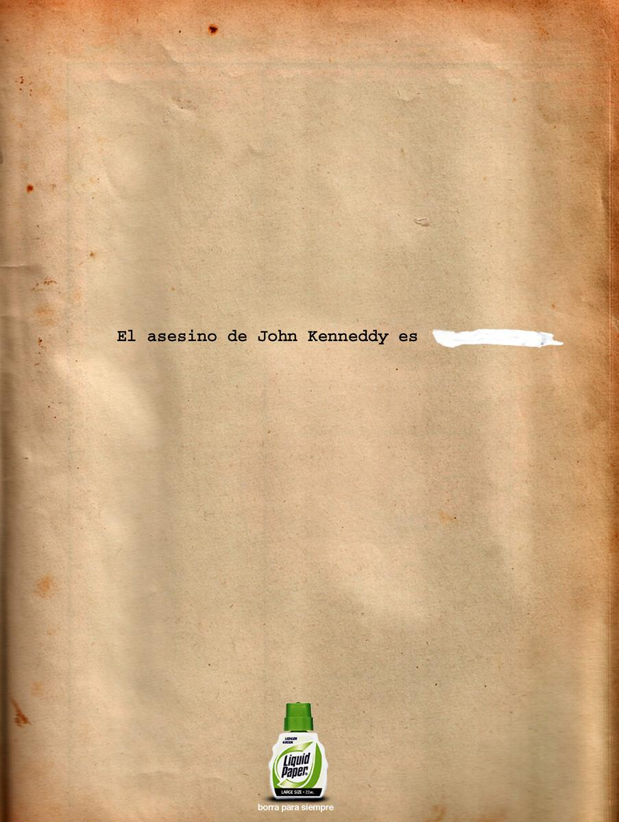 Liquid Paper Print Ad -  Kennedy
