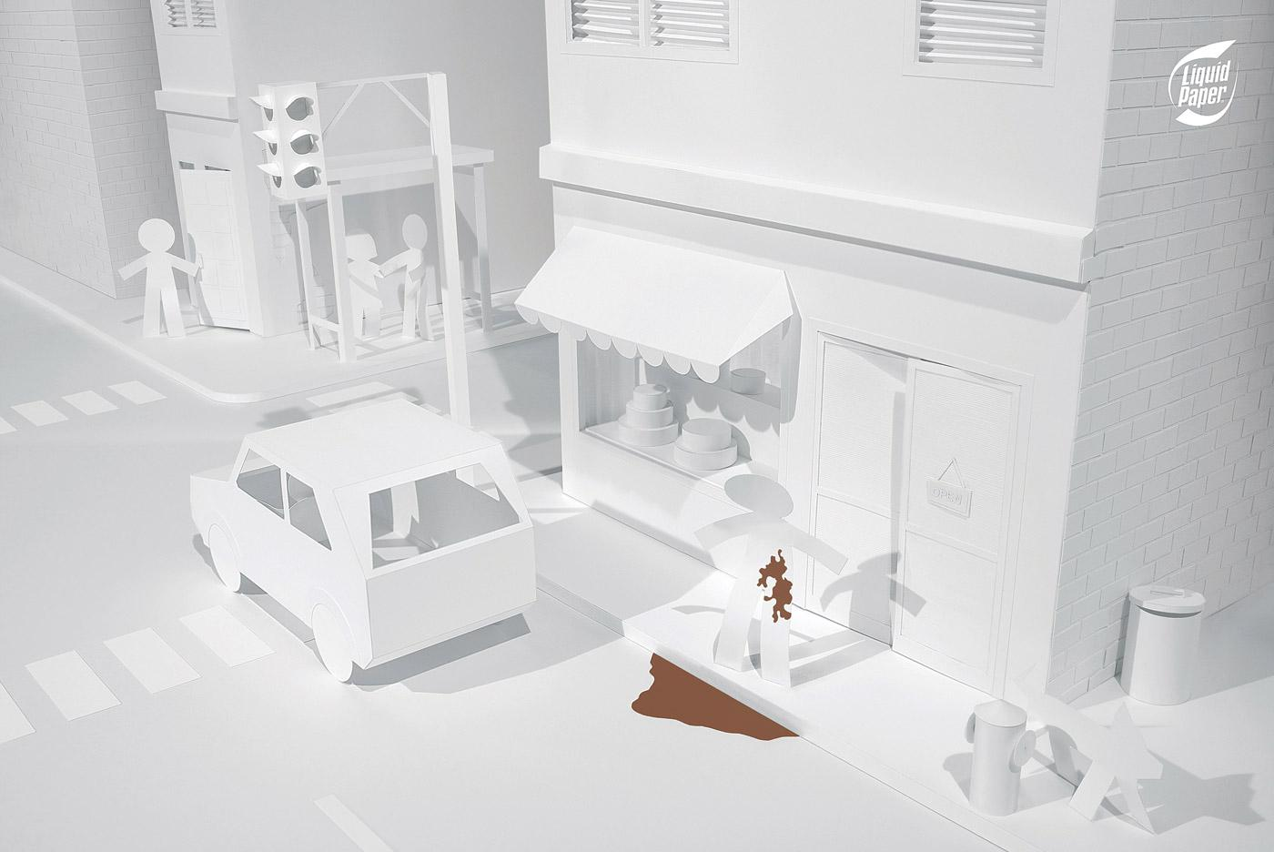 Liquid Paper Print Ad -  Street