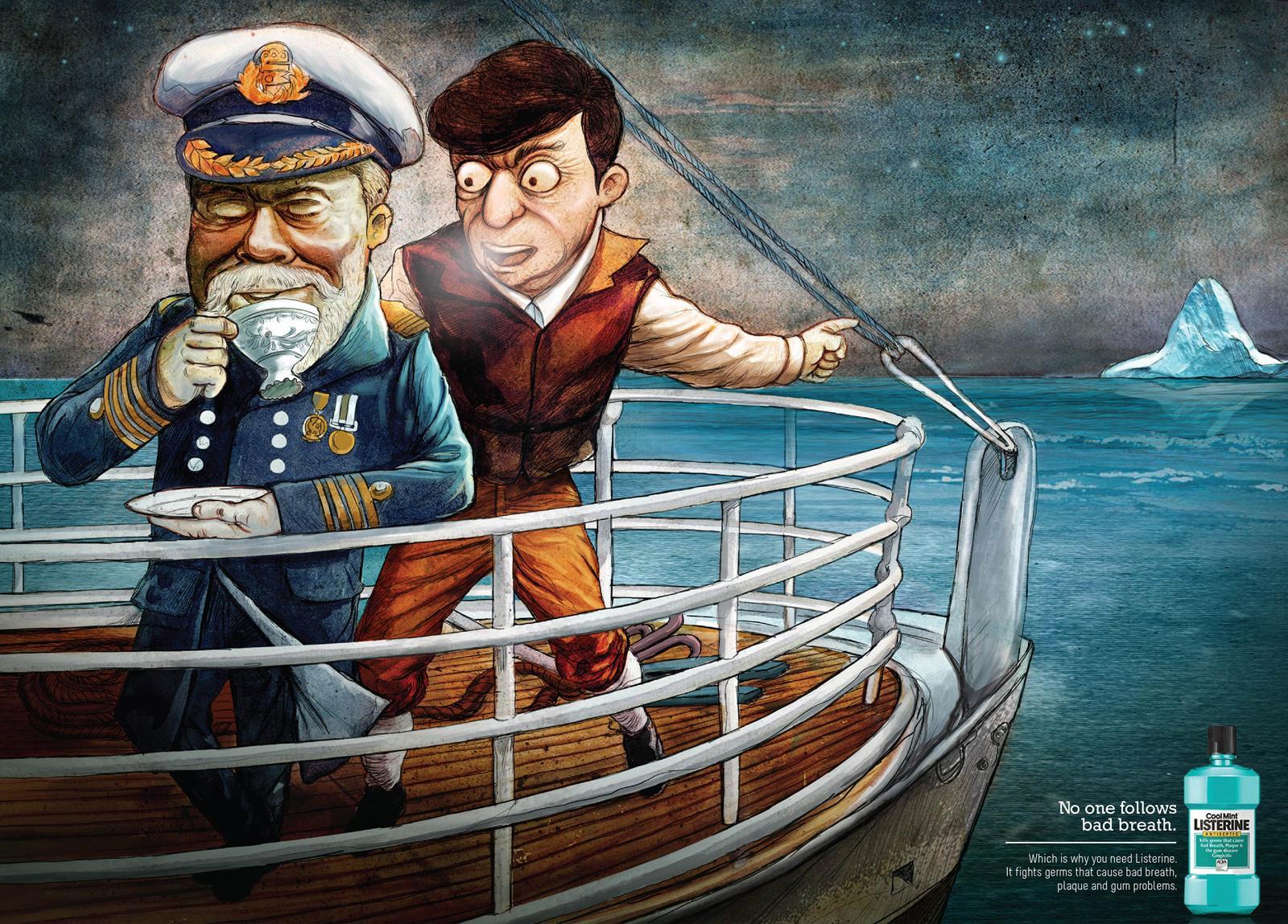 Listerine Print Ad -  Titanic