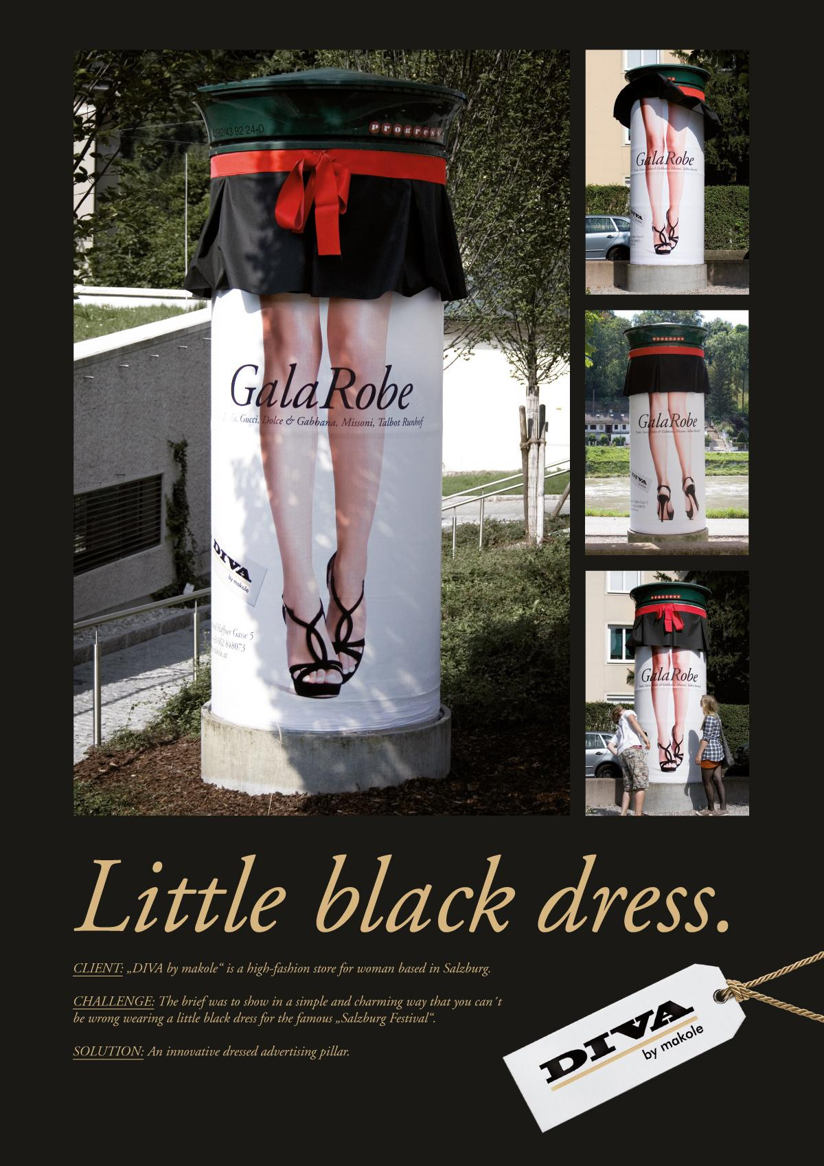 DIVA Outdoor Ad -  Little black dress