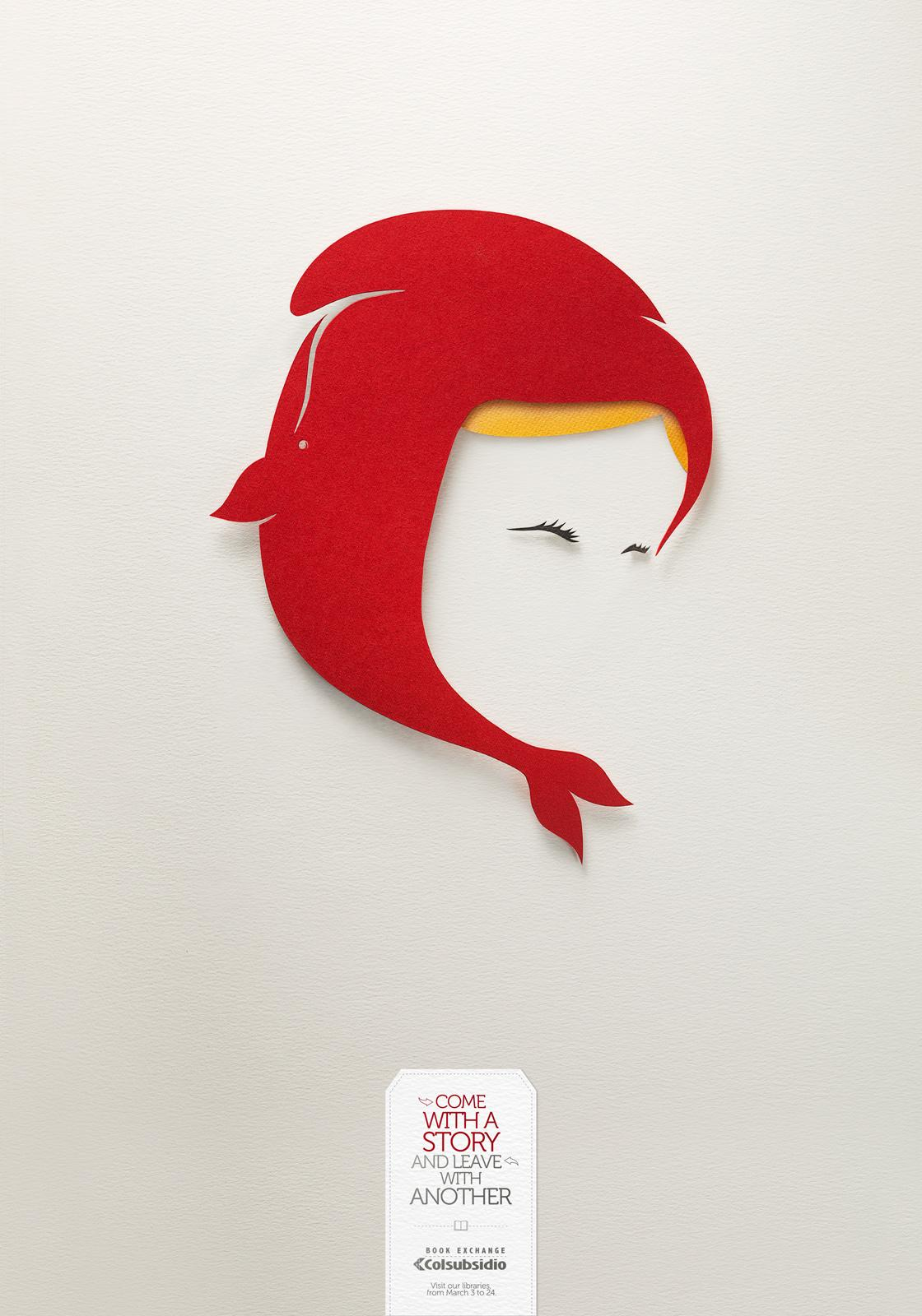 Colsubsidio Print Ad -  Llttle red riding hood and Moby Dick