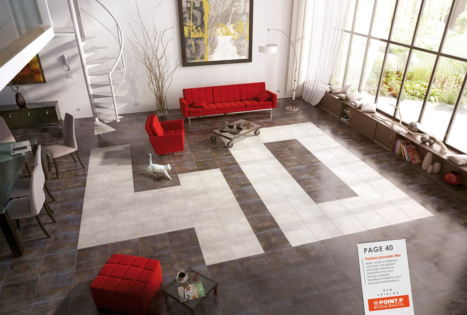 Point P Print Ad -  Living room