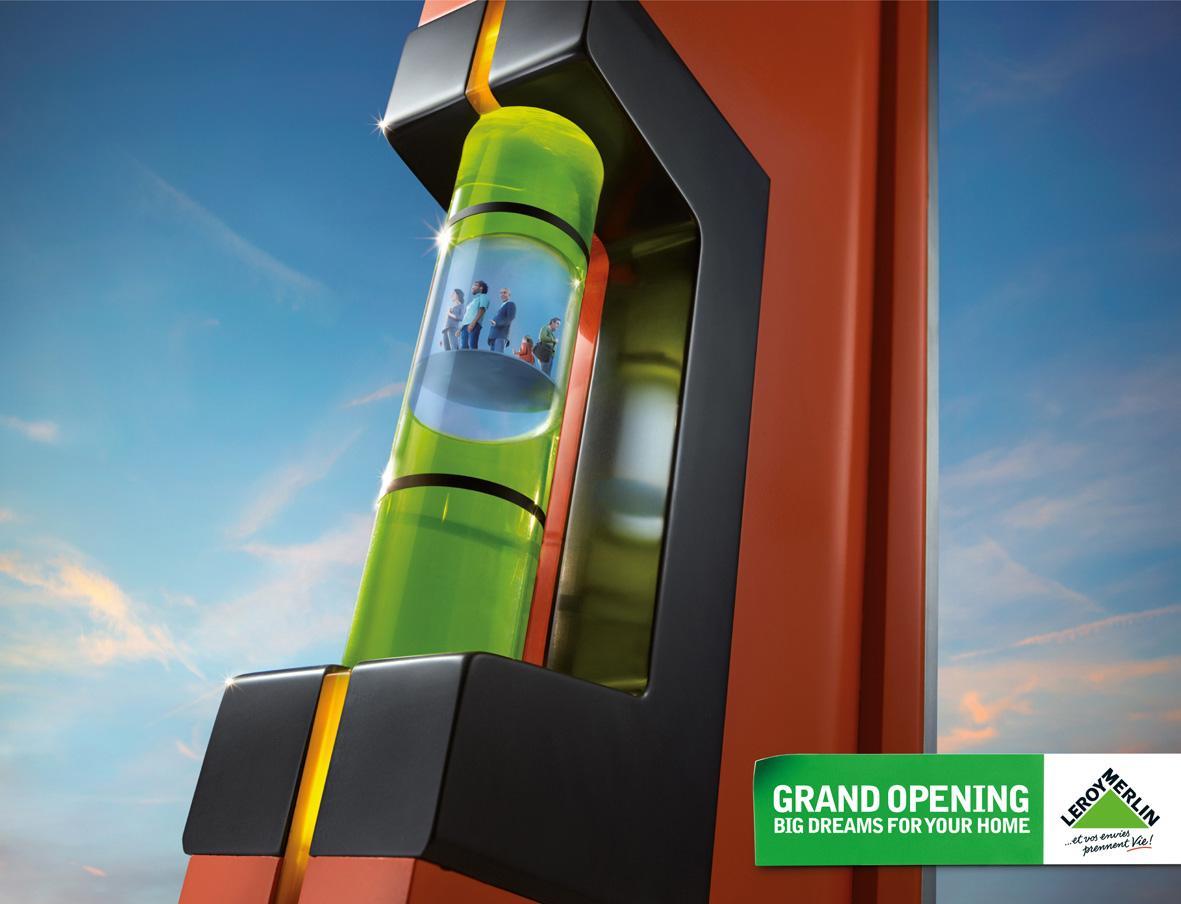 Leroy Merlin Print Ad -  Grand opening, Spirit level