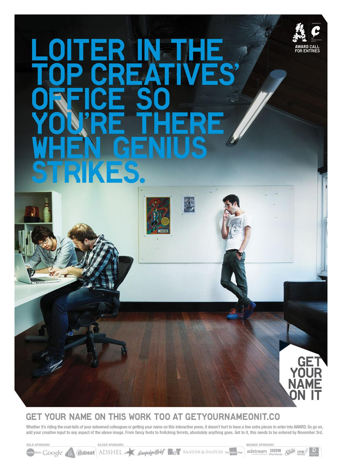 AWARD Print Ad -  Get Your Name On It, Creatives Office