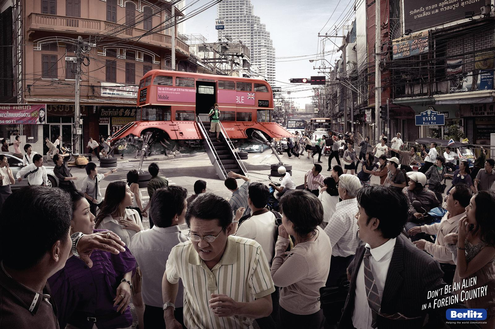 Berlitz Print Ad -  London bus