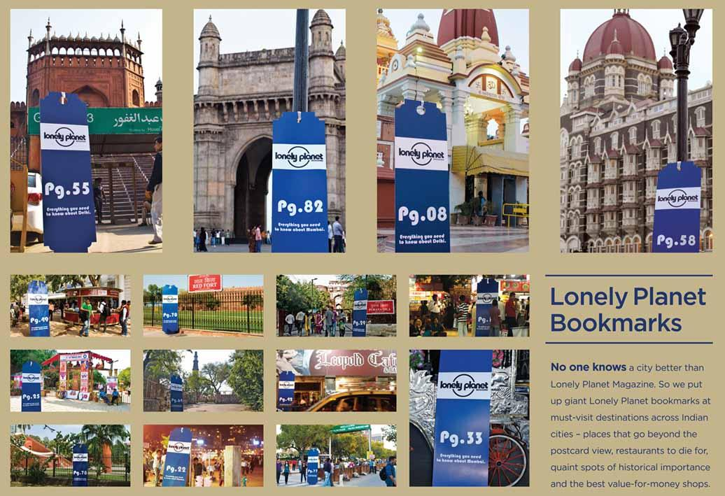 Lonely Planet Outdoor Ad -  Bookmark