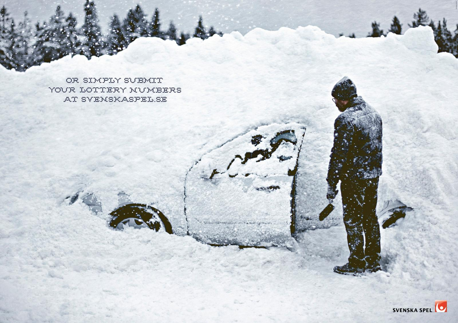 Svenska Spel Print Ad -  Car