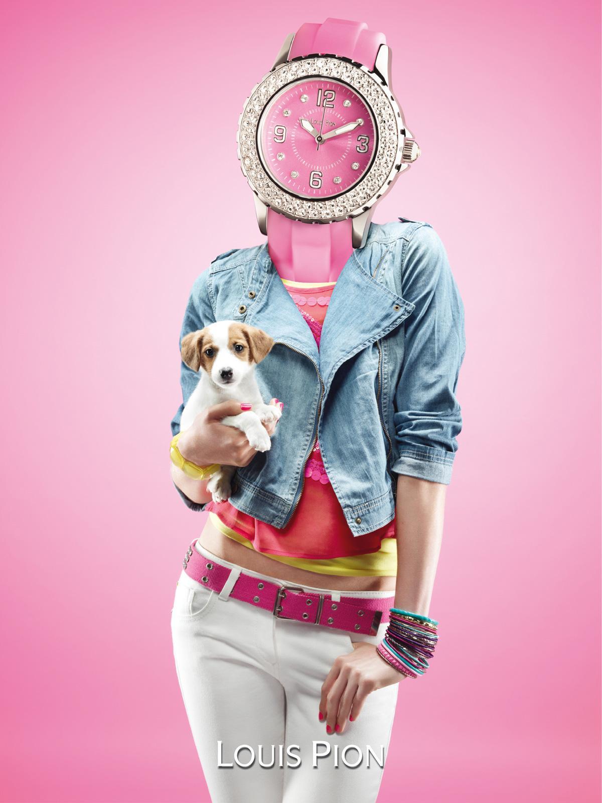 Louis Pion Print Ad -  Watch head, 2