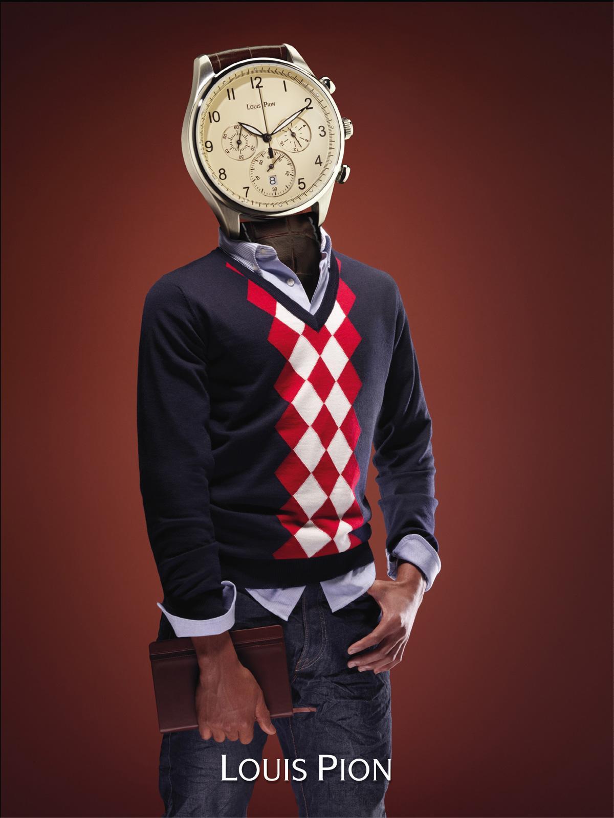 Louis Pion Print Ad -  Watch head, 4