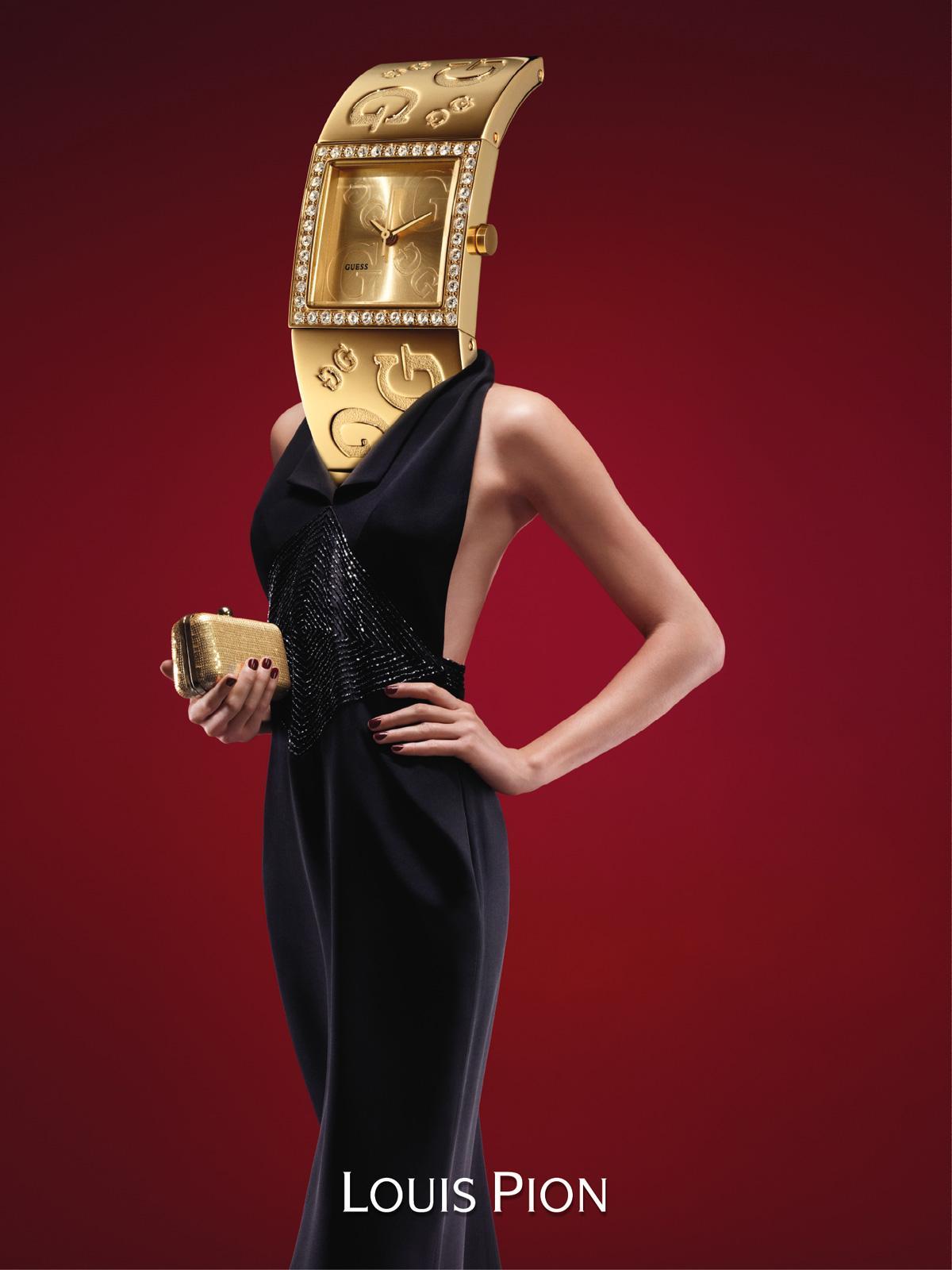 Louis Pion Print Ad -  Watch head, 5