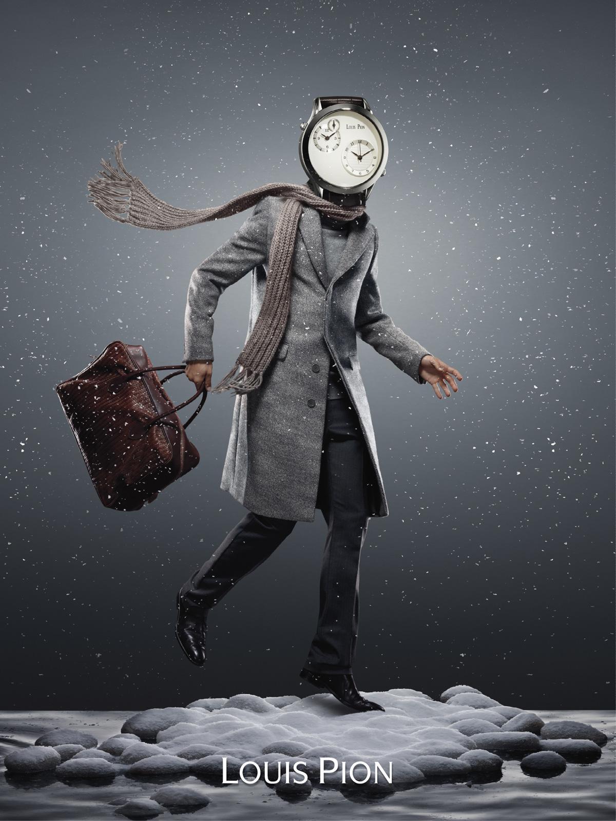 Louis Pion Print Ad -  Watch head, 8