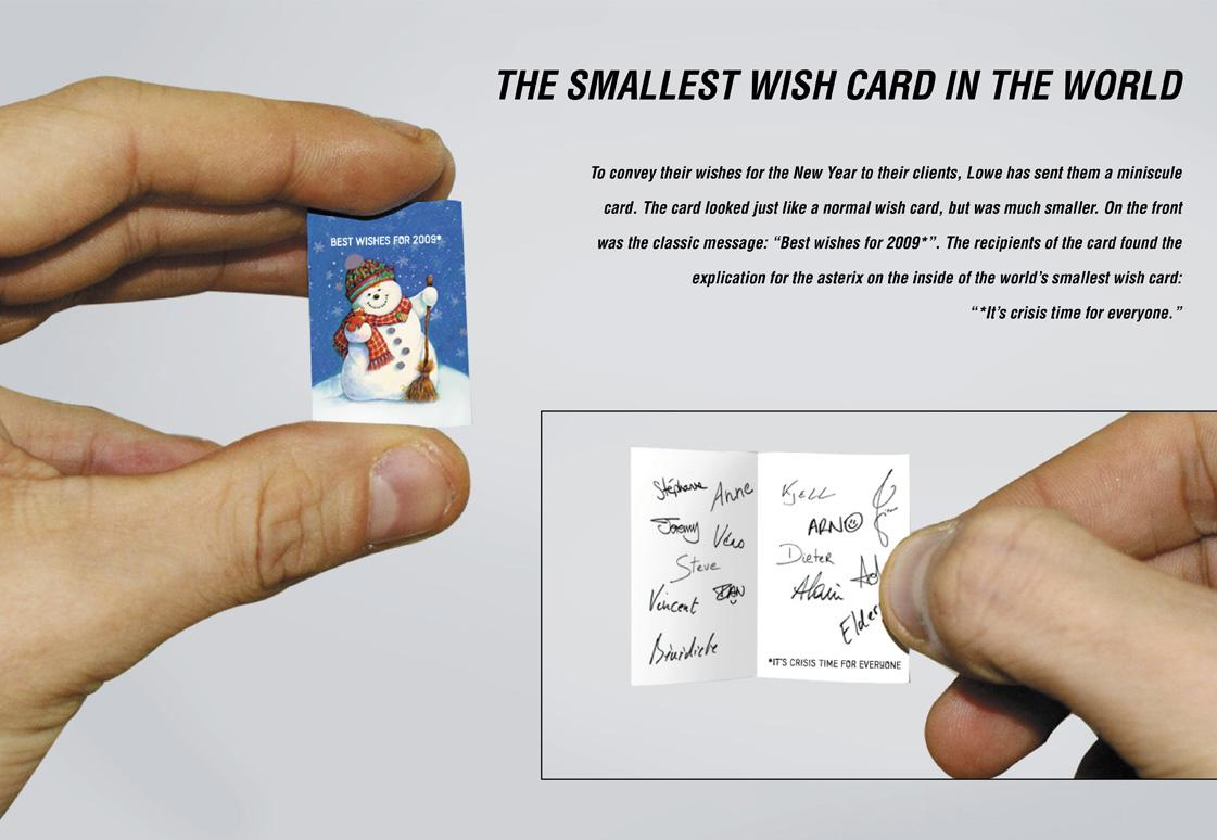Lowe Direct Ad -  The smallest wish card in the world
