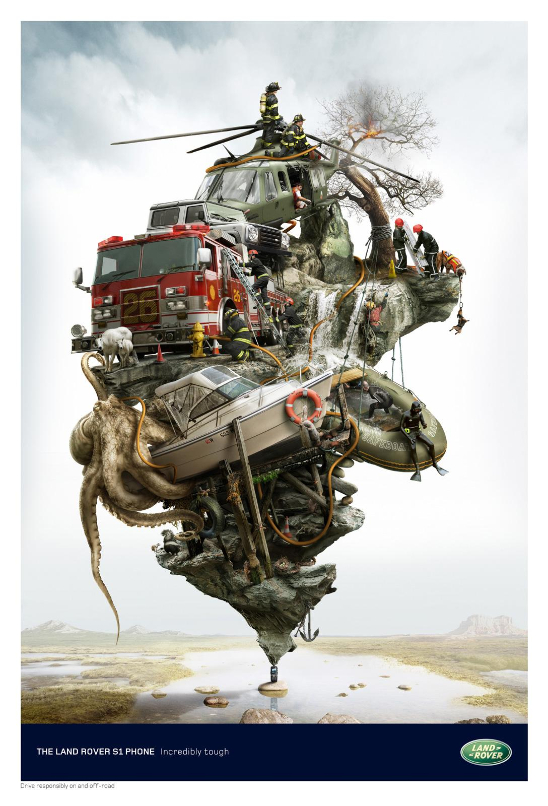 Land Rover Print Ad -  Rescue