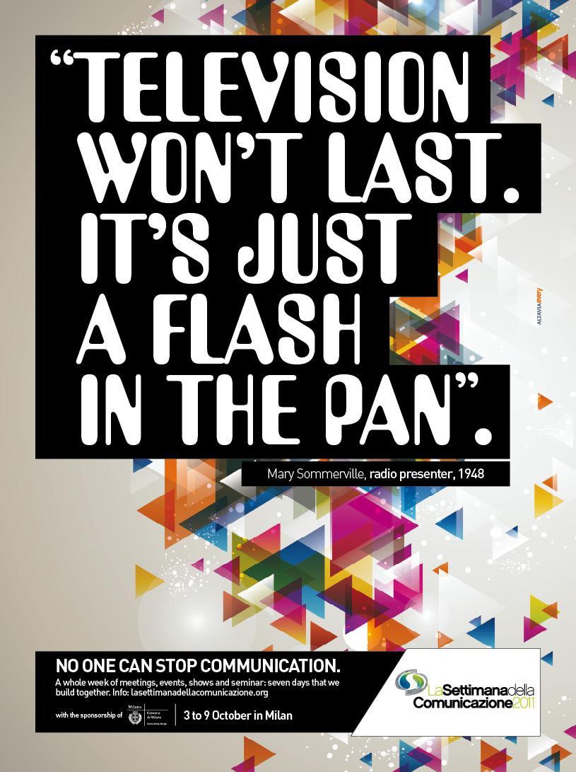 La settimana della comunicazione Print Ad -  Television