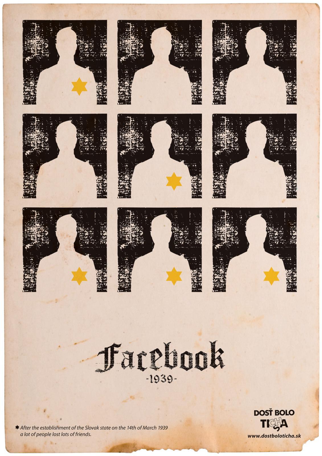 People Against Racism Print Ad -  Facebook 1939