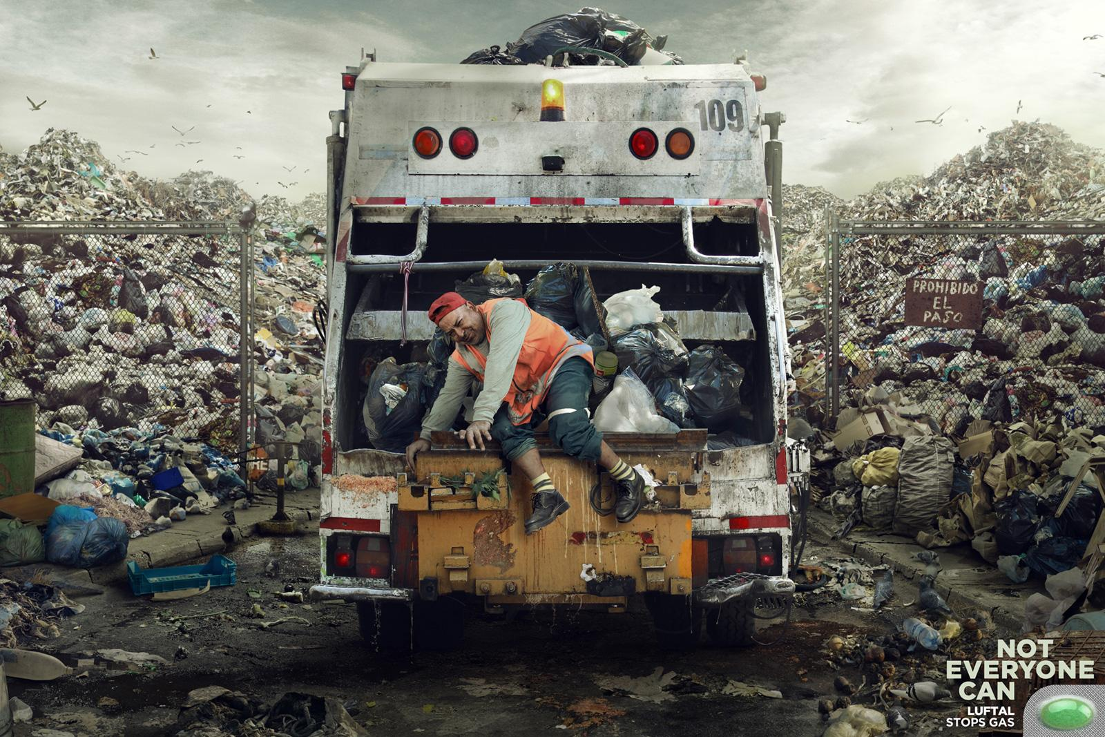 Luftal Print Ad -  Not everyone can, Garbage man