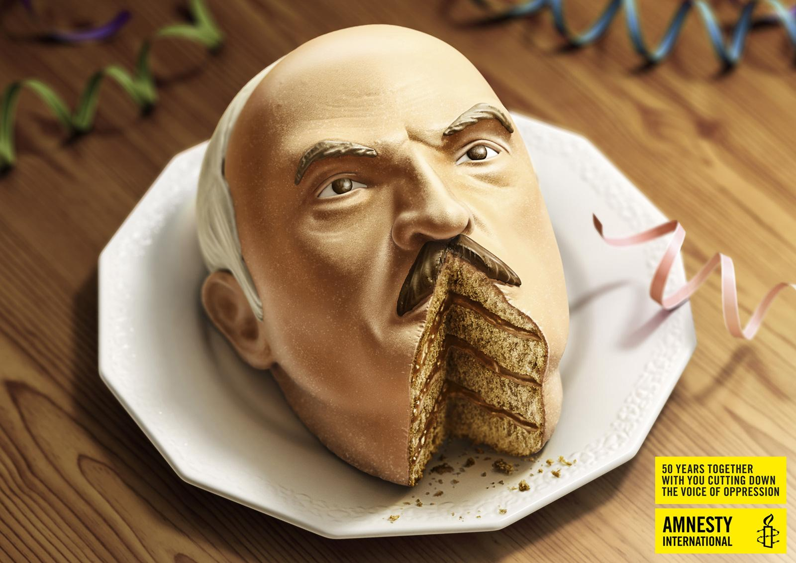 Amnesty International Print Ad -  Lukashenko